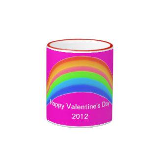 Tarjeta del día de San Valentín Taza De Dos Colores