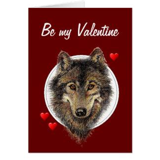 Tarjeta del día de San Valentín tonta romántica de