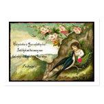 Tarjeta del día de San Valentín Unfailing del amor Tarjetas De Visita