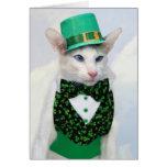 Tarjeta del día de Skeezix McCat St Patrick