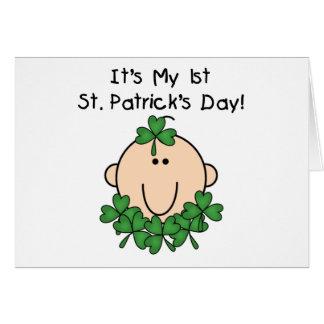 Tarjeta del día de St Patrick del bebé