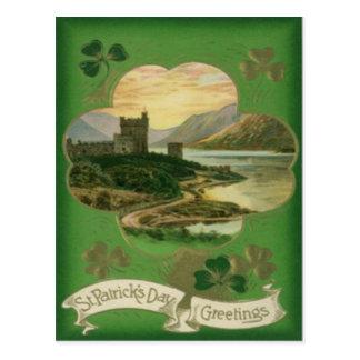 Tarjeta del día de St Patrick del castillo del Postales