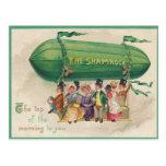 Tarjeta del día de St Patrick del flotador del tré