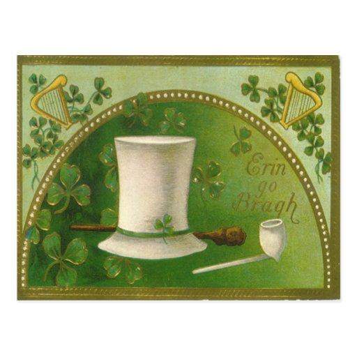 Tarjeta del día de St Patrick del gorra del tubo d Postal