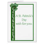 Tarjeta del día de St Patrick del misionario de LD