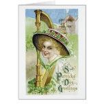 Tarjeta del día de St Patrick del vintage