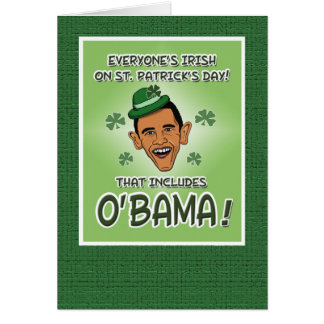Tarjeta del día de St Patrick divertido: O'Bama