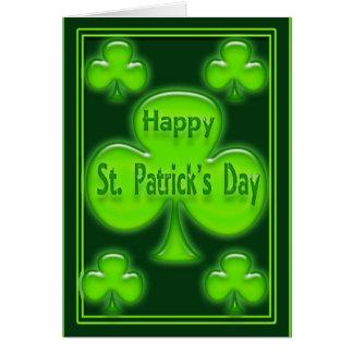 Tarjeta del día de St Patrick feliz