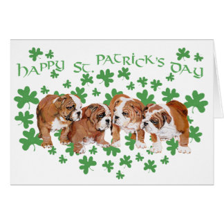 Tarjeta del día de St Patrick inglés del dogo