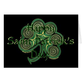 Tarjeta del día de St Patrick irlandés del trébol