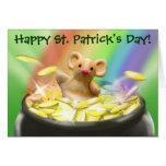 Tarjeta del día de St Patrick lindo del ratón