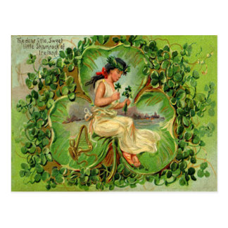 Tarjeta del día de St Patrick virginal del trébol Postal