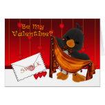 Tarjeta del día de St.Valentine, corazones del pin