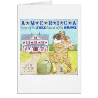 Tarjeta del día de veteranos de América