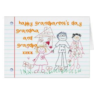 tarjeta del día del abuelo de la abuela y del abue