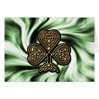 tarjeta del día del oro de St Patrick céltico del