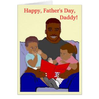 Tarjeta del día del papá de los paquetes del papá