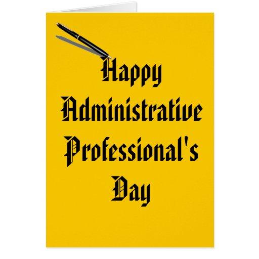 Tarjeta del día del profesional administrativo