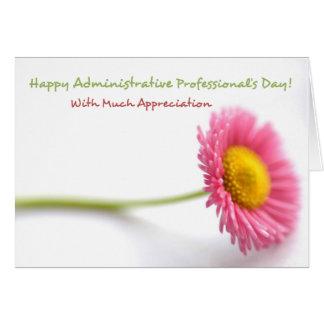 Tarjeta del día del profesional administrativo de