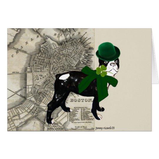 Tarjeta del día del St Patricks del perrito de Cla