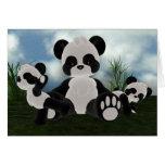 Tarjeta del día soleado de Bearz de la panda