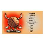 Tarjeta del diablo del baloncesto tarjetas de visita