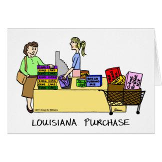 Tarjeta del dibujo animado de la compra de Luisian