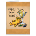 Tarjeta del dibujo animado de la Feliz Año Nuevo d