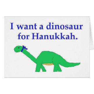 Tarjeta del dinosaurio de Jánuca