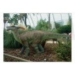 Tarjeta del dinosaurio de Parasaurolophus