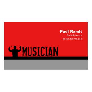 Tarjeta del director visita de la banda del músico tarjetas de visita