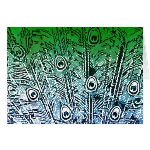 Tarjeta del diseño del pavo real