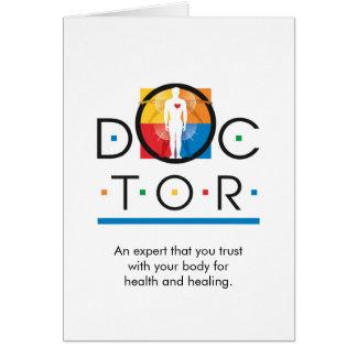 """Tarjeta del """"doctor"""" nota"""