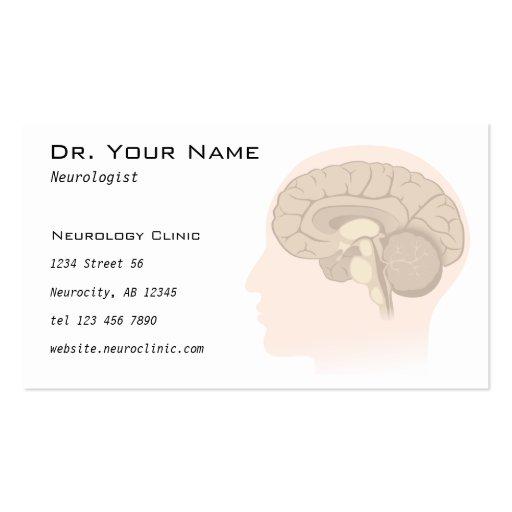 Tarjeta del doctor visita del neurólogo o del psic plantilla de tarjeta personal