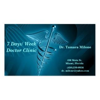Tarjeta del doctor visita tarjetas de visita
