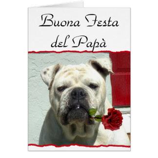 Tarjeta del dogo del día de padre de Buona Festa