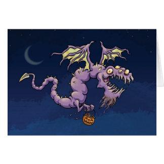 Tarjeta del dragón de Halloween - Halloween diaból
