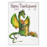 Tarjeta del dragón de la acción de gracias