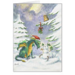 Tarjeta del dragón del amor del navidad
