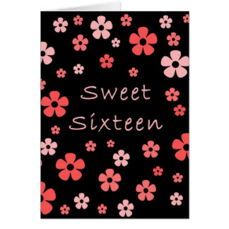 Tarjeta del dulce dieciséis