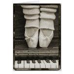Tarjeta del dúo del ballet del piano