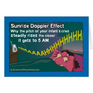 Tarjeta del efecto de Doppler de la salida del sol