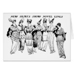 Tarjeta del ejemplo de 1914 modas de las faldas