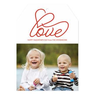 """Tarjeta del el día de San Valentín con amor y la Invitación 5"""" X 7"""""""