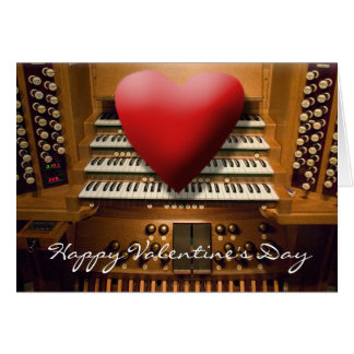 Tarjeta del el día de San Valentín con el corazón