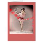 Tarjeta del el día de San Valentín de Betty Grable