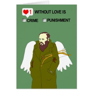 Tarjeta del el día de San Valentín de Dostoevsky