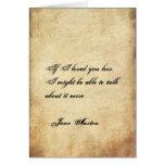 Tarjeta del el día de San Valentín de Jane Austen