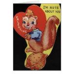 Tarjeta del el día de San Valentín de la ardilla d