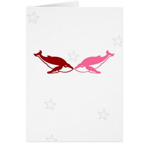 Tarjeta del el día de San Valentín de la ballena